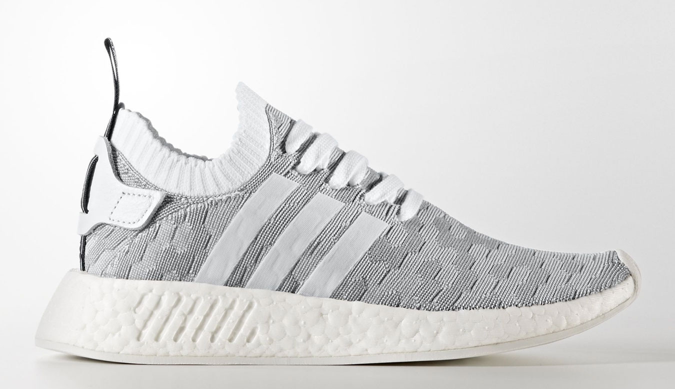 promo code a563a defd3 adidas NMD R2 Primeknit White Black