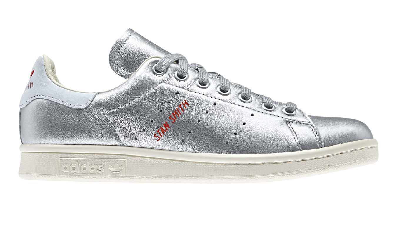 meet bf336 6d0ab adidas Stan Smith Silver B41750