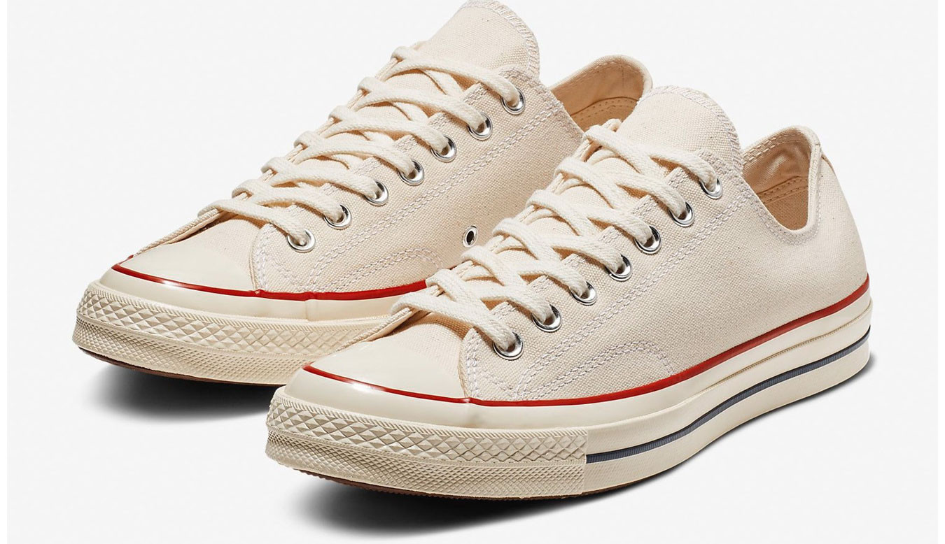 White sneakers Converse Chuck Taylor All Star 70 Heritage Lo
