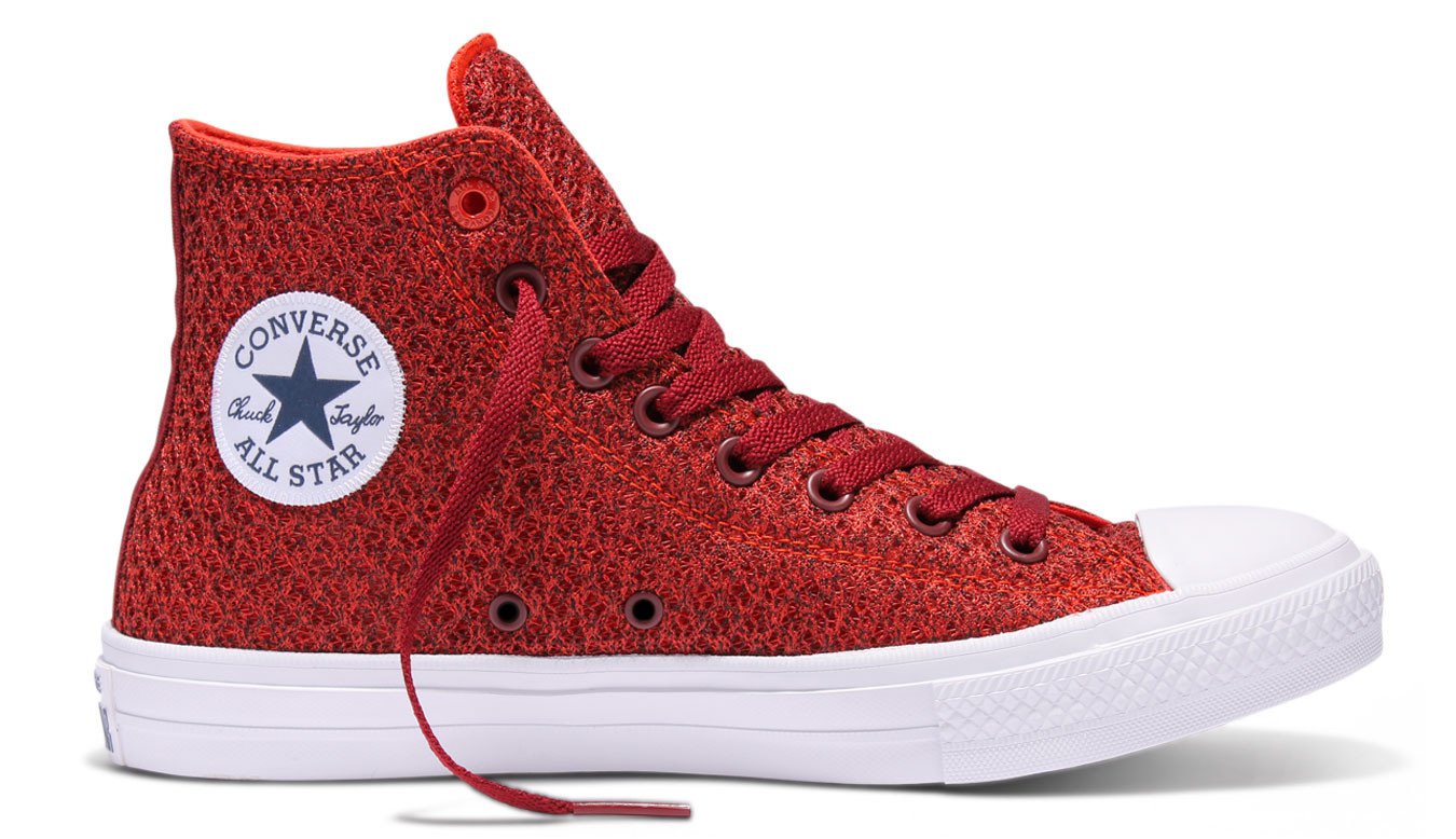 6f02c66d36c Converse Chuck Taylor All Star II Spacer Mesh High Top Signal Red 154019C