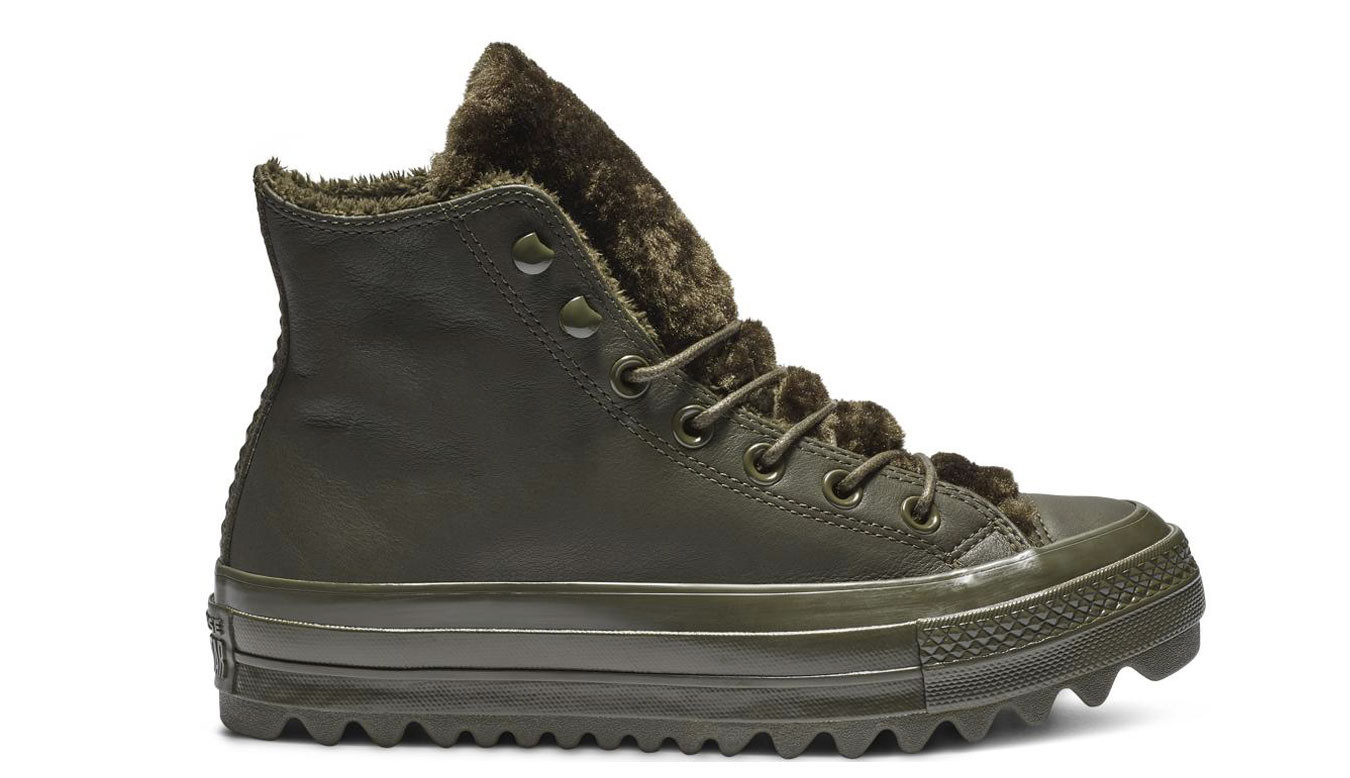 Converse Chuck Taylor All Star Lift Ripple Hi Leather