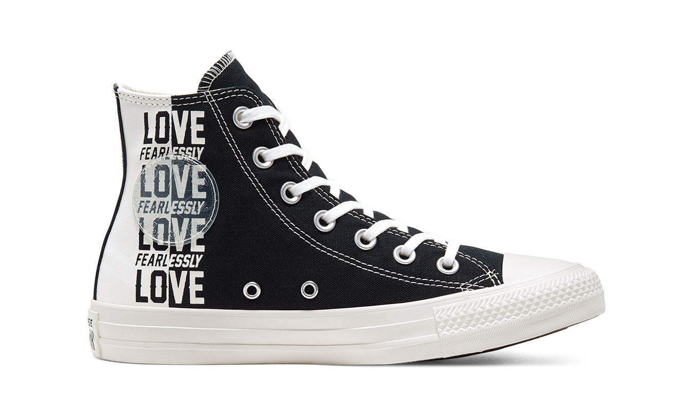 Black sneakers Converse Love Fearlessly Chuck Taylor All