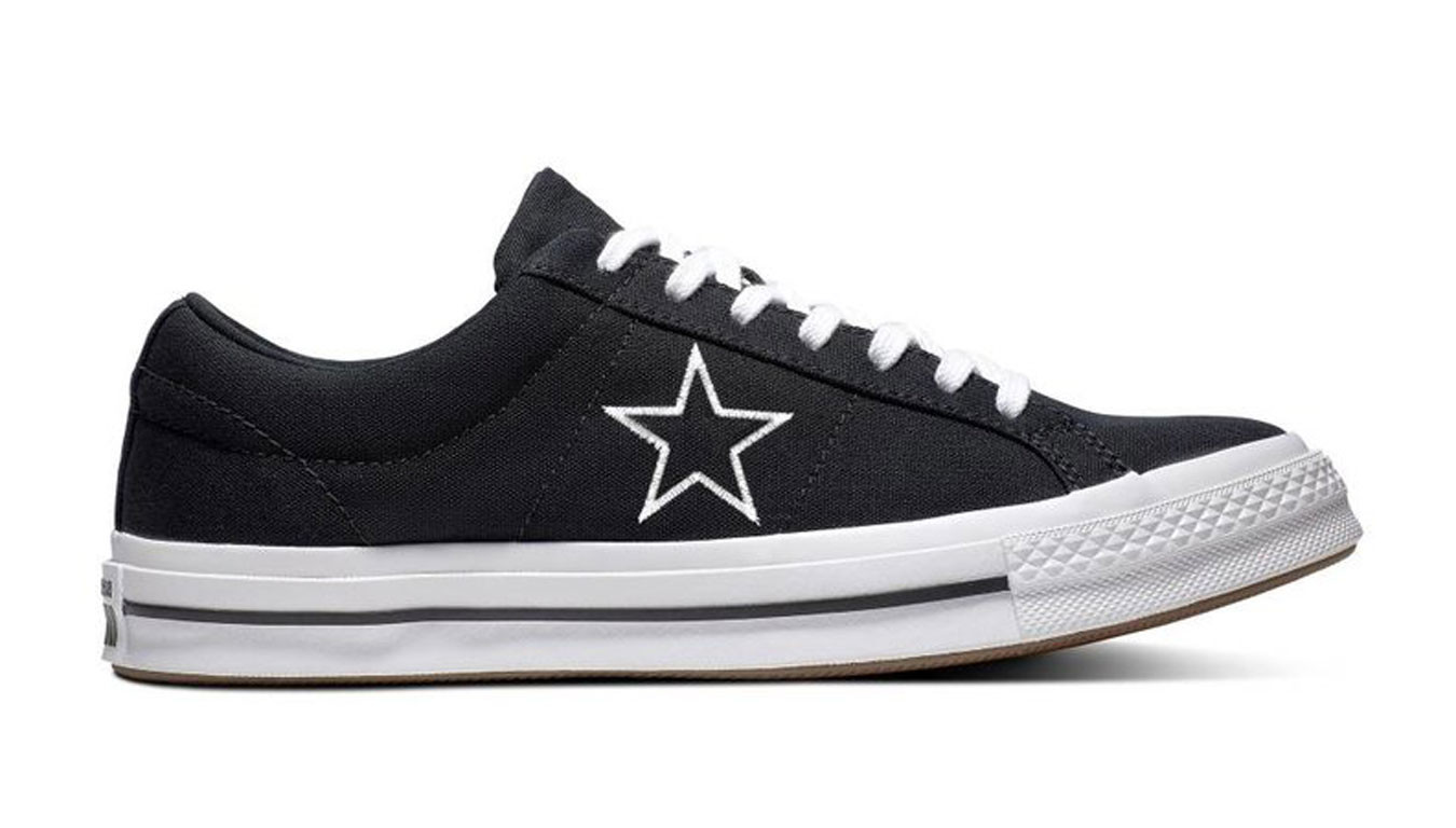New CONVERSE One Star Leather Sneaker Mens white black all