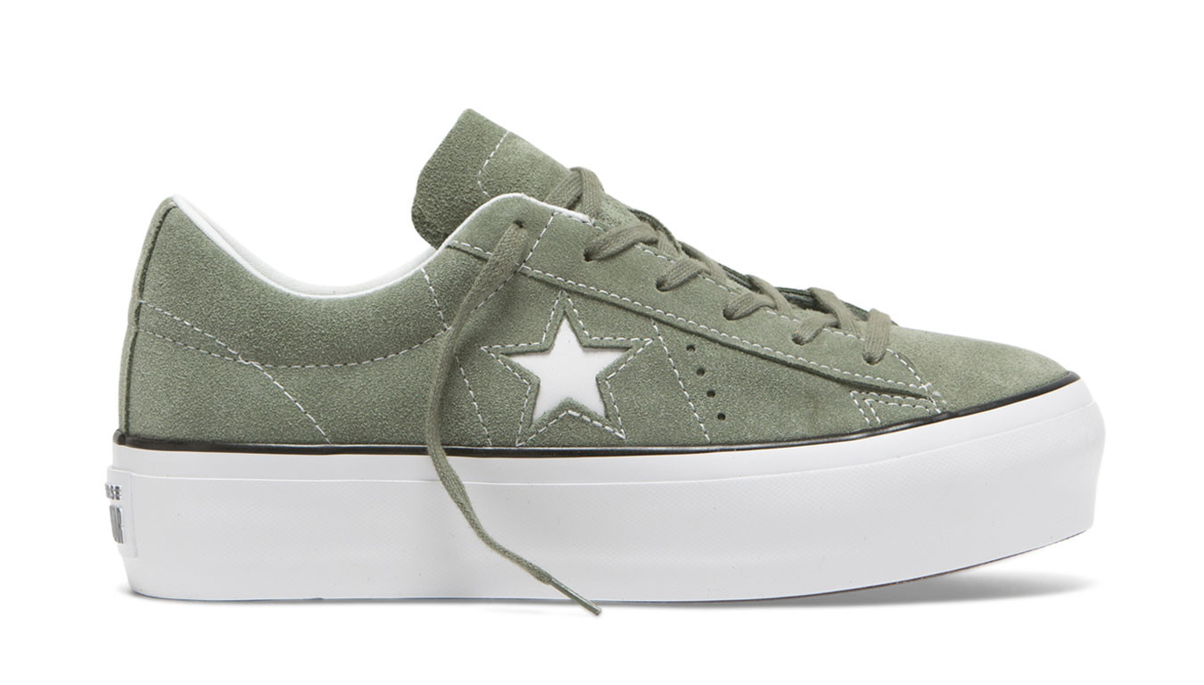 Converse One Star Platform Low Top Vintage Lichen