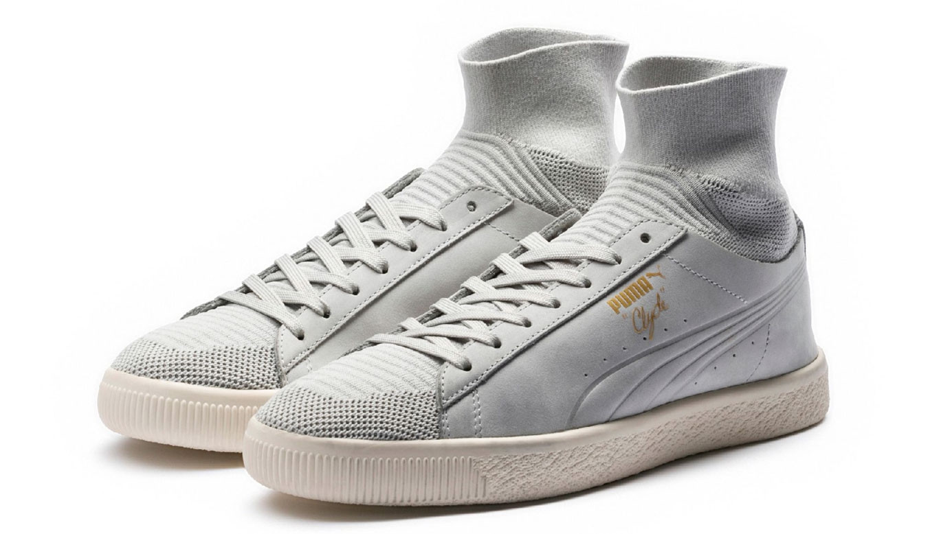 promo code 04355 3bccd Puma Clyde Sock SELECT Gray Violet