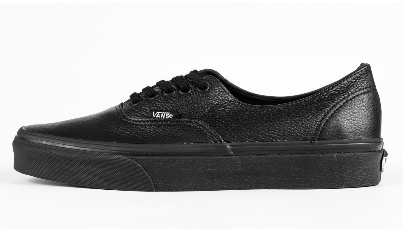 9ee1e03596 Vans Authentic Decon Premium Leather Black V18CGKM