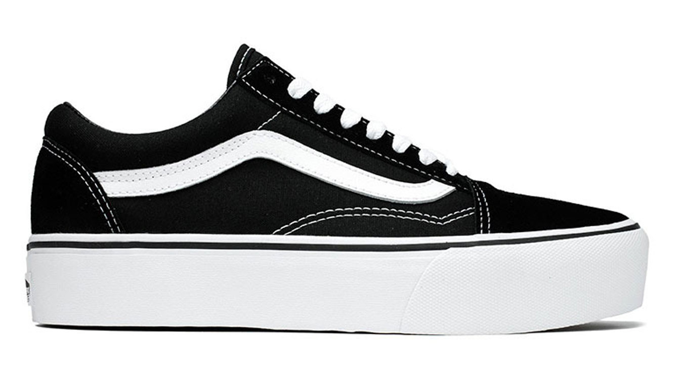 Vans Ua Old Skool Platform Black White