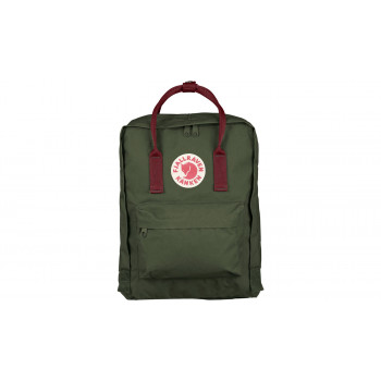 Fjällräven Kånken Forest Green-Ox Red