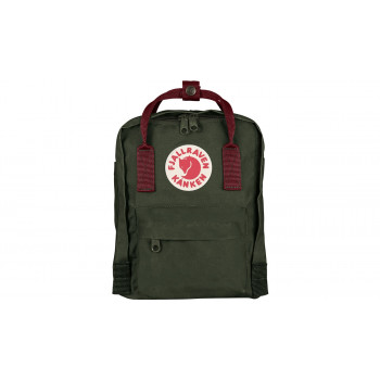 Fjällräven Kånken Mini Kids Forest Green-Ox Red