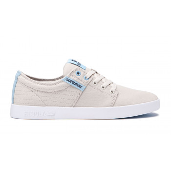 Supra Stacks II Bone Stitch White